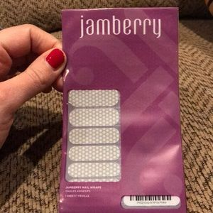 Jamberry Gray and White Polka nail wraps